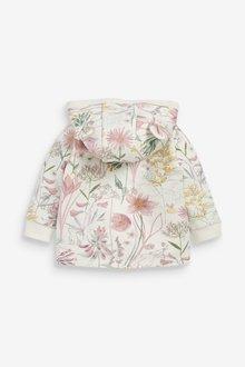 Next Floral Cosy Popper Lightweight Jacket (0mths-2yrs) - 286433