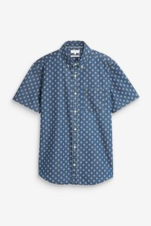 Next Geo Print Short Sleeve Shirt-Tall - 286460