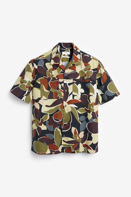 Next Floral Print Short Sleeve Shirt