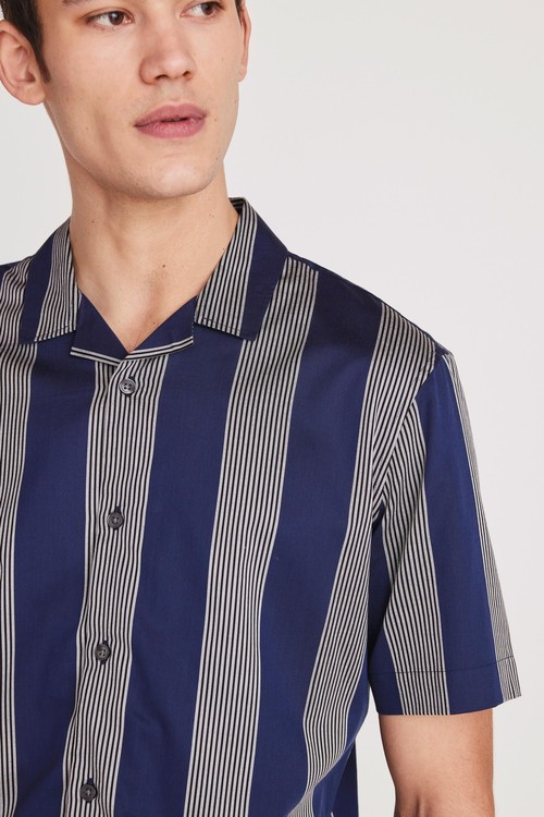 Next Stripe Short Sleeve Shirt