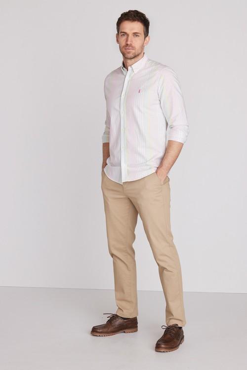 Next Stripe Oxford Long Sleeve Shirt
