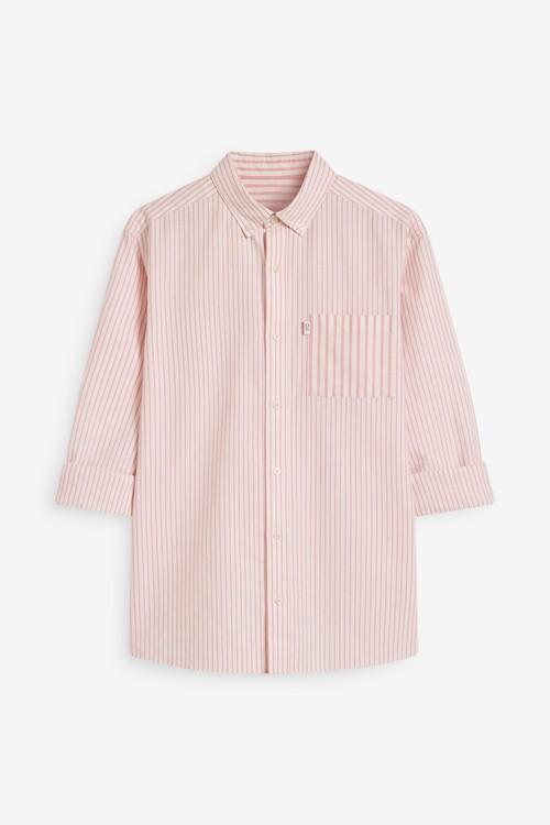 Next Stripe Mix Match Oxford Long Sleeve Shirt