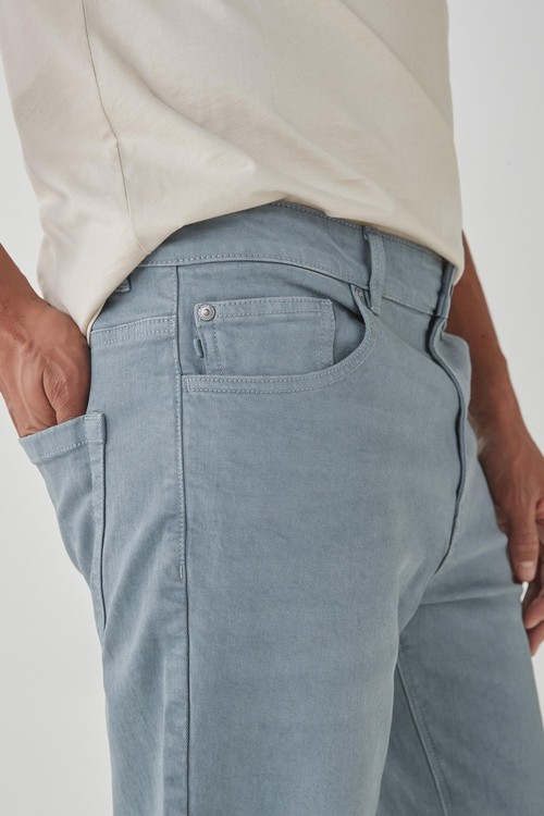Next Garment Dyed Jeans With Stretch-Straight Fit