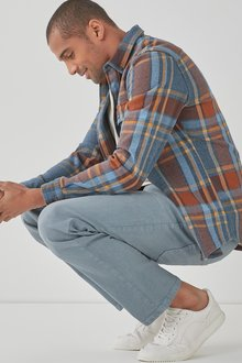 Next Garment Dyed Jeans With Stretch-Straight Fit - 286569