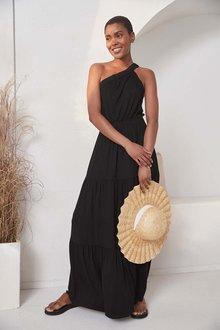 Next One Shoulder Maxi Dress - 286849
