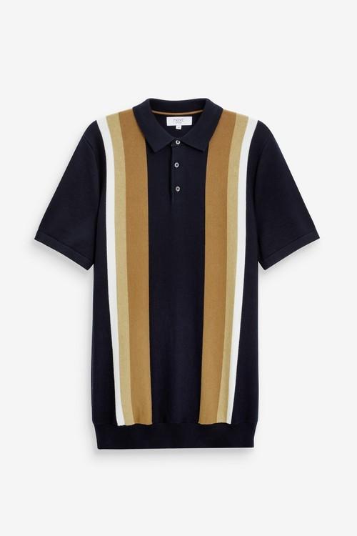 Next Block Stripe Premium Polo