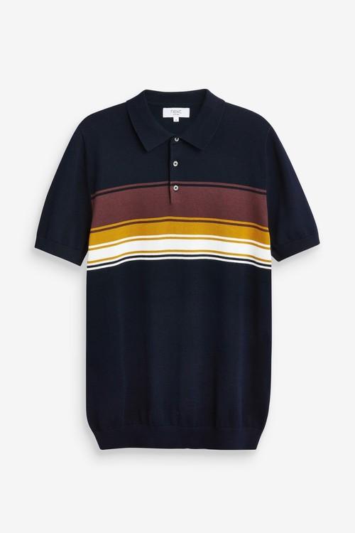 Next Horizontal Chest Stripe Polo