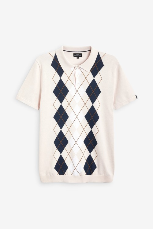 Next Premium Pattern Polo