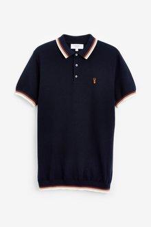 Next Premium Textured Tipped Polo - 286920