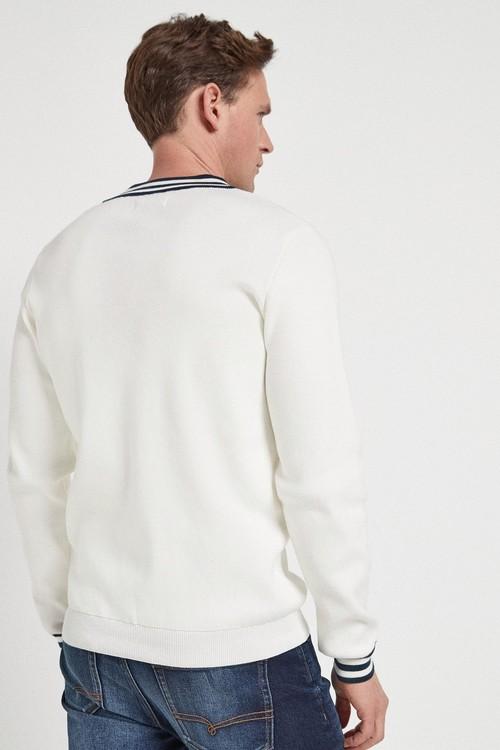 Next Embroidered V-Neck Cricket Jumper