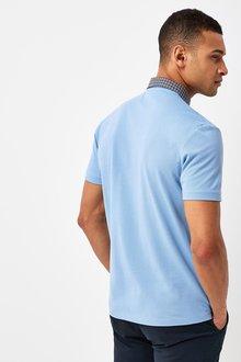 Next Check Collar Pique Poloshirt - 286940