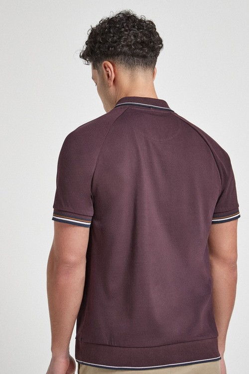 Next Mock Layer Poloshirt