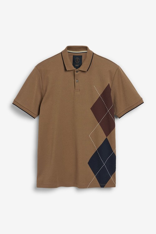 Next Argyle Print Poloshirt