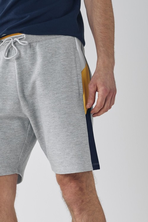 Next Pique Blocked Shorts