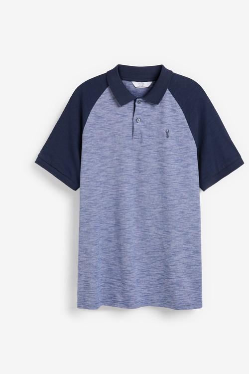 Next Raglan Poloshirt-Tall