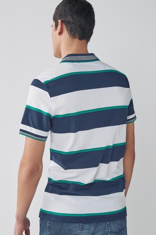 Next Stripe Pique Polo