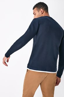 Next Long Sleeve Mock Layer Crew Neck Top - 287039