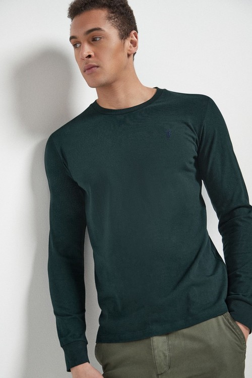 Next Long Sleeve Stag T-Shirts Three Pack