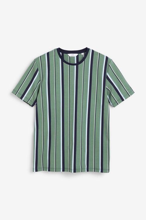 Next Vertical Stripe Regular Fit T-Shirt-Tall