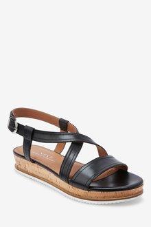 Next Forever Comfort Flatform Sandals-Wide Fit - 287337