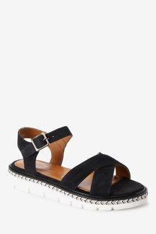 Next Forever Comfort Flatform Sandals-Wide Fit - 287368