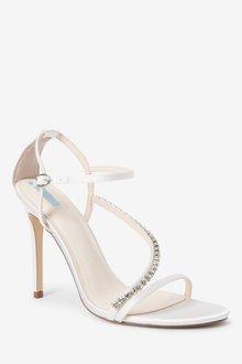 Next Bridal Asymmetric Jewel Sandals - 287448