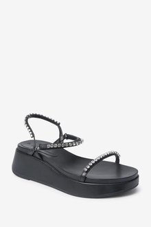 Next Jewelled Flatform Sandals - 287476