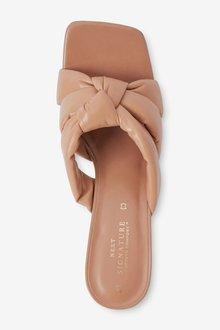 Next Signature Leather Padded Mules - 287511