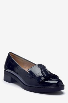 Next Cleated Fringe Loafers-Wide Fit - 287528