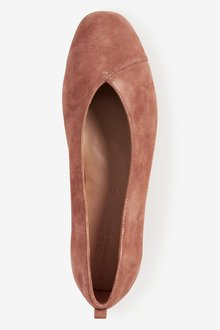 Next Forever Comfore Leather Ballerina Shoes-Wide Fit - 287543