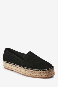 Next Forever Comfore Suede Square Toe Espadrille Shoes - 287556