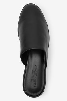 Next Leather Closed Toe Mules - 287563