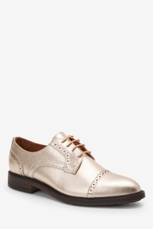 Next Leather Brogue Lace-Ups-Wide Fit - 287576