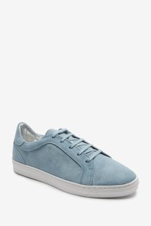 Next Signature Leather Trainers-Wide Fit - 287595