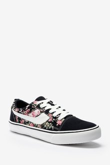 Next Suede Side Detail Lace-Up Trainers-Regular - 287633