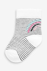 Next 4 Pack Rainbow Socks (Younger)