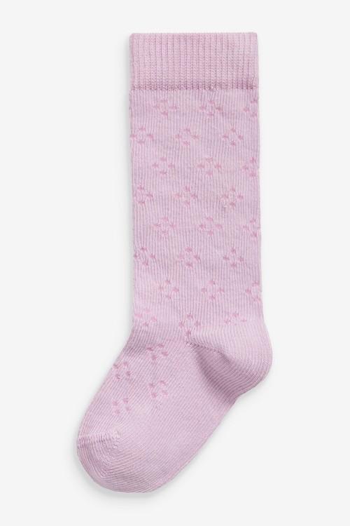 Next 3 Pack Knee High Pointelle Socks (Younger)