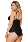Nip Tuck Swim Black Gamma Dulcie Tummy Control Tankini Set Swimsuit