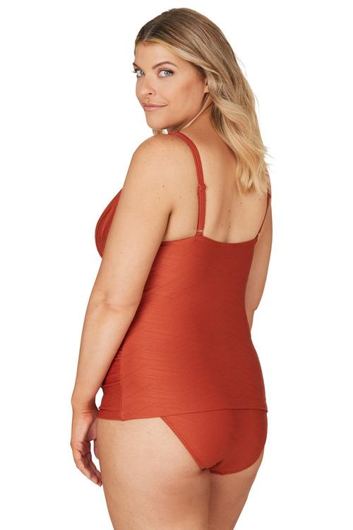 Nip Tuck Swim Orange Gamma Dulcie Tummy Control Tankini Set Swimsuit