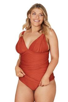 Nip Tuck Orange Gamma Dulcie Tummy Control Tankini Set Swimsuit - 288212