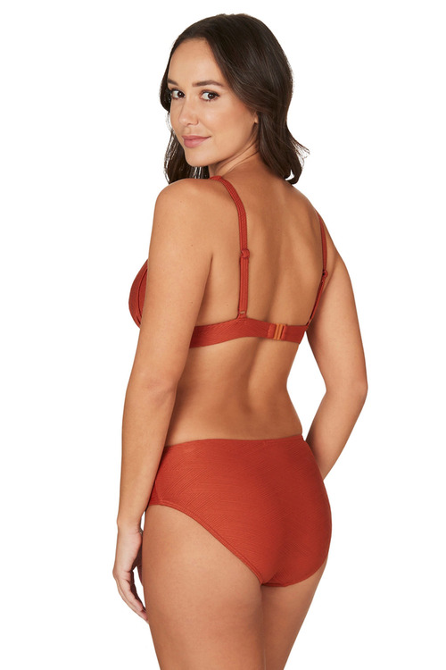 Nip Tuck Swim Orange Gamma Dulcie Tummy Control Bikini Set Swimsuit