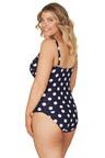 Nip Tuck Swim Navy Ava Spot Joanne Tankini Tummy Control Tankini Set Swimsuit