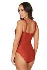 Nip Tuck Swim Orange Gamma Joanne Tummy Control One Piece Swimsuit