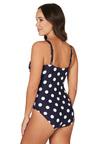 Nip Tuck Swim Navy Ava Spot Joanne Tummy Control One Piece Swimsuit