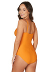 Nip Tuck Swim Omega Orange Edith Tummy Control One Piece Swimsuit