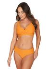 Nip Tuck Swim Omega Orange Louise Cross Over Design Tummy Control Bikini Set