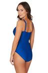 Nip Tuck Swim Omega Blue Joanne Twist Front Design Tummy Control One Piece