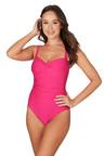Nip Tuck Swim Omega Pink Joanne Twist Front Design Tummy Control One Piece
