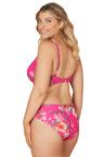Nip Tuck Swim Paradise Splice Pink Louise Cross Over Design Tummy Control