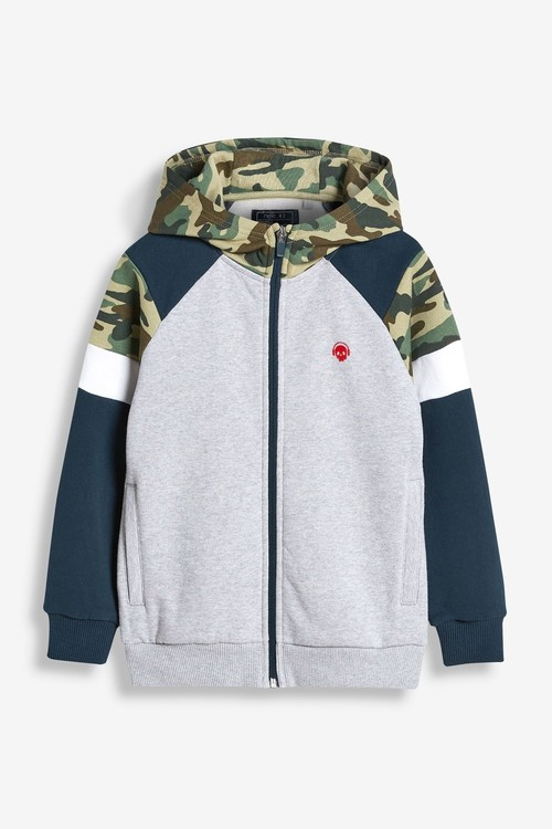 Next Hooded Zip Through Top and Short Set (3-16yrs)